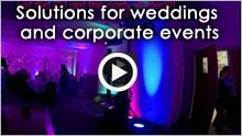 diy disco - the idj at wedding party