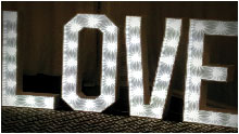Stunning LED Letters